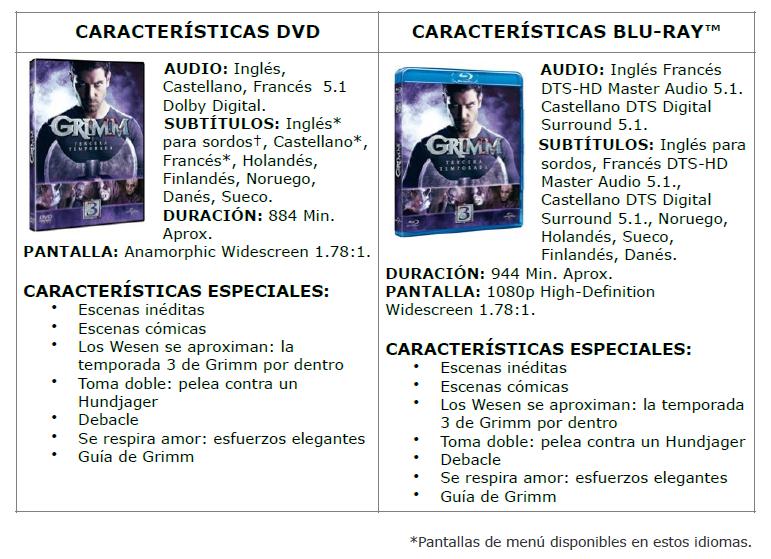 Grimm-DVD-caracteristicas