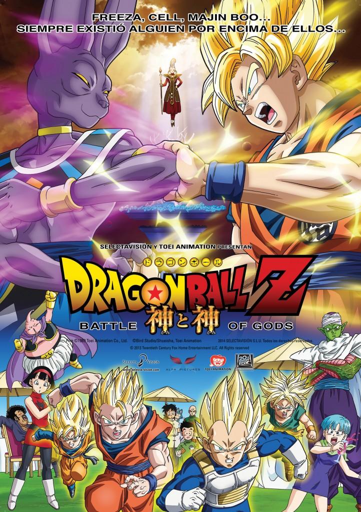 Dragon ball Z, la batalla de los Dioses